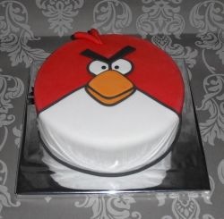 Angry birds-taart